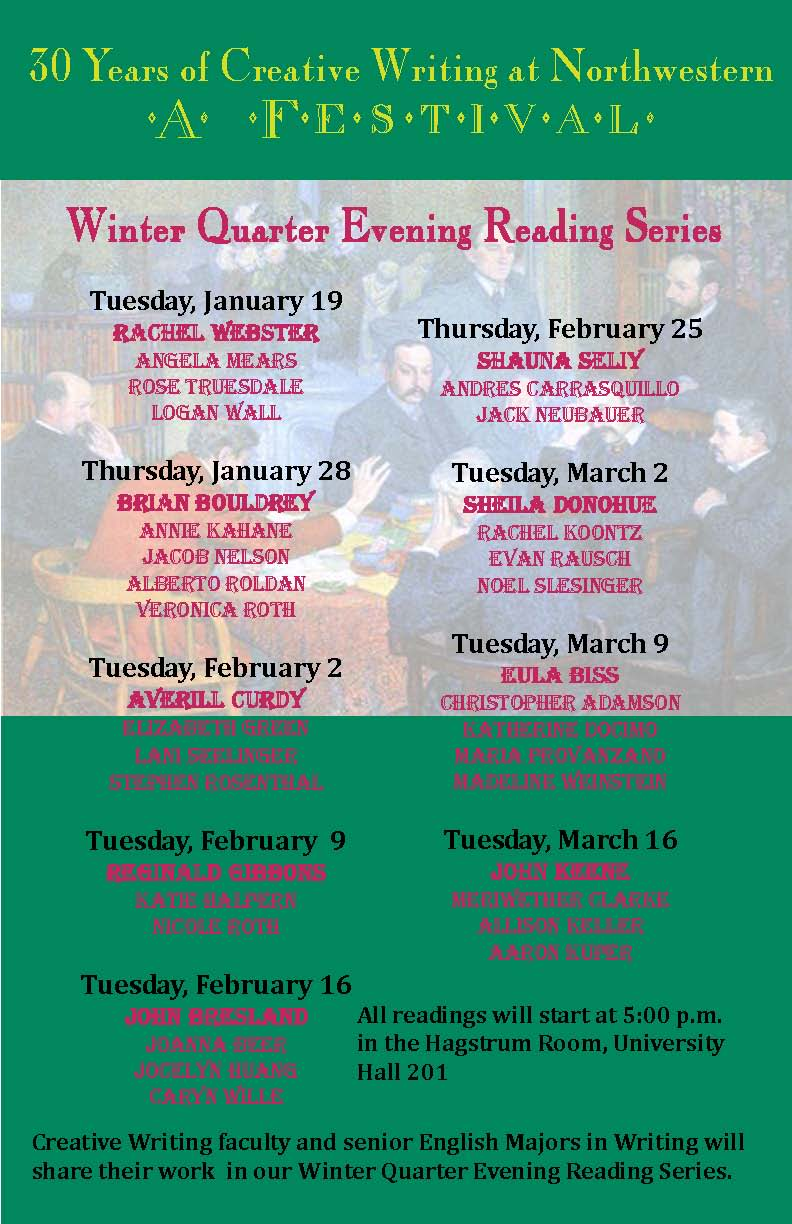 2010 Senior Reading Series listing