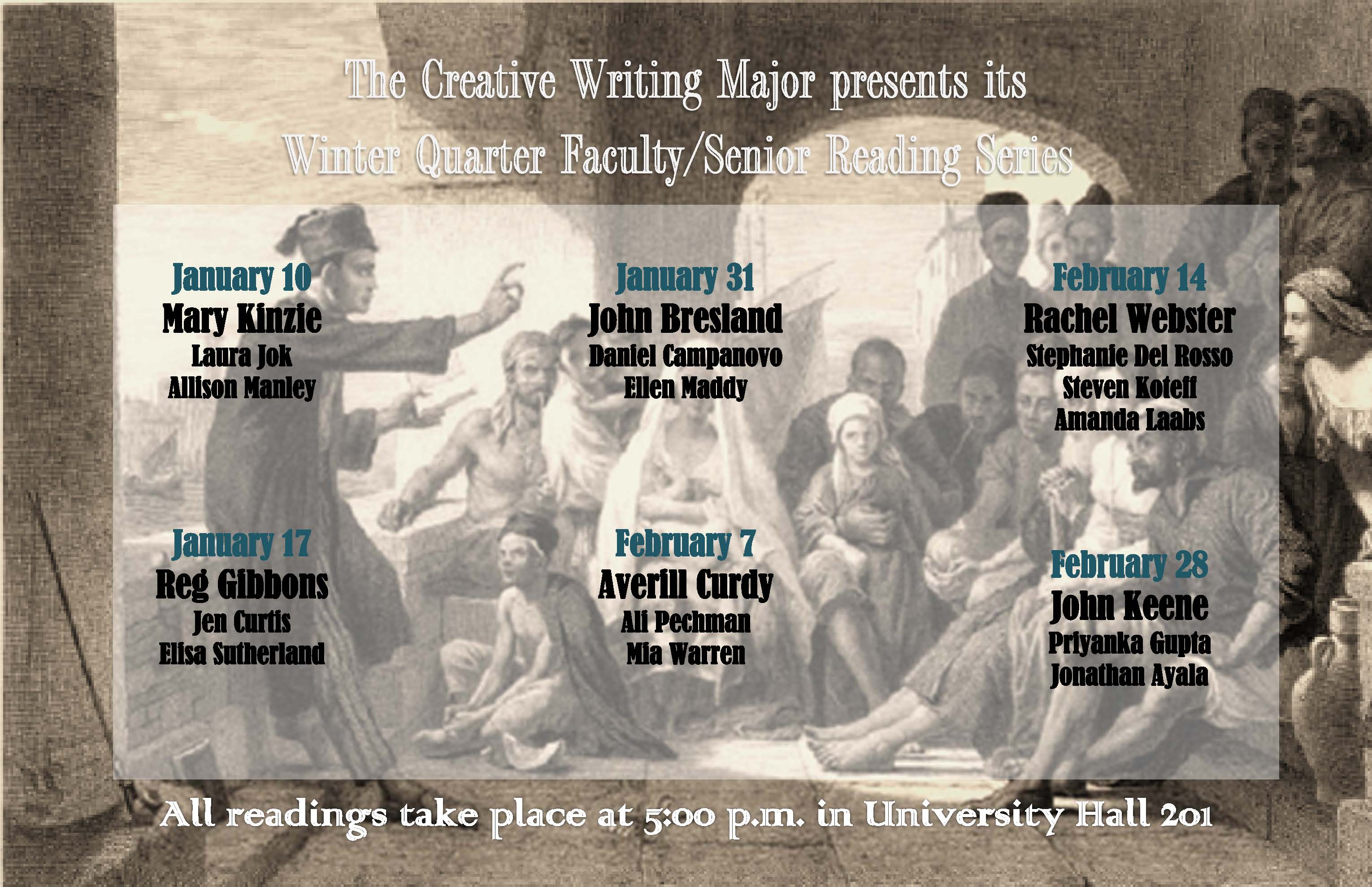2012 Senior Reading Series listing