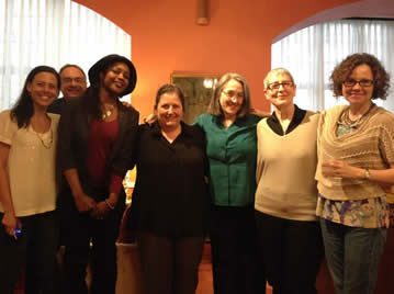 Photo of Rachel Webster, Brian Bouldrey, ZZ Packer, Jane Brox, Kate Daniels, Mary Kinzie, and Averill Curdy